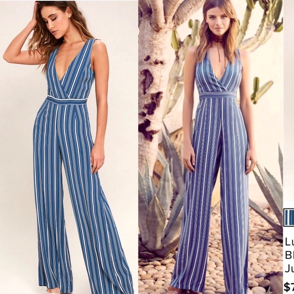 43b74b8d238e Lulu s Montauk Yacht Club Striped Jumpsuit